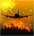 airliner and city vector image