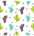 cacti tribal seamless pattern mexican vector image