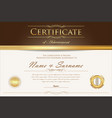 certificate or diploma retro design template 3 vector image