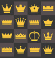 crowns icons set vector image