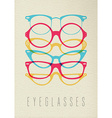 Fashion hipster glasses concept color design vector image