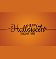 happy halloween line vintage lettering background vector image