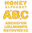 honey alphabet letters vector image