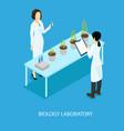 isometric biological scientific experiment concept vector image