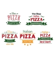 Italian pizza colorful labels vector image