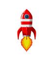 retro space rocket lifts off vector image
