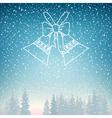 Snowfall and Holiday Jingle Bells vector image