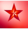 a Gold star on gold EPS 8 vector image vector image