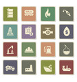 extraction of oil icon set vector image