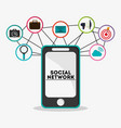smartphone and icon design social network design vector image
