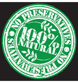 Grunge no preservatives 100 percent natural rubber vector image