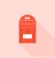 red mail box vector image