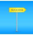 Yellow Road Sign with Word Success vector image