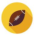 Flat Sports Ball American Football Circle Icon vector image