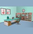 Realistic Office Interior Big Boss vector image