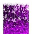 Christmas card cute misaic dot in purple EPS 8 vector image