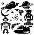 Black wall stickers space invaders set vector image vector image