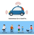 Autonomous Car is Good For different people vector image