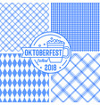 bavarian blue pattern collection with geometric vector image