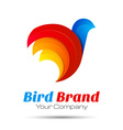 Colorful 3d Volume Logo Design Bird sparrow vector image
