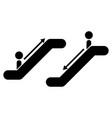 escalator vector image