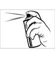 Hand holding spray vector image