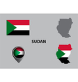Map of Sudan and symbol vector image