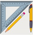 Pencil with ruler vector image