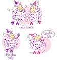 pink dancing sheep vector image