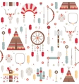 Seamless pattern of colorful ethnic set with dream vector image