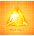 Shiny gemstone on textured background vector image