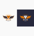 the logo and the wings logo template for your vector image