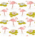 Flamingo seamless big vector image vector image