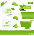 Eco Green Set vector image