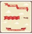 Vintage typography Background vector image