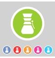 Chemex coffeemaker coffee icon flat web sign vector image