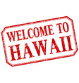 Hawaii - welcome red vintage isolated label vector image