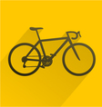 bicyle sport icon vector image vector image