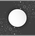 abstract geometric background circle technology vector image