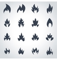 black file icon set vector image
