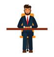 businessman sitting on chair cartoon flat vector image