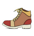 color sketch with army boots vector image