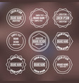 set of vintage emblems with thin lines vector image
