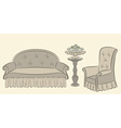 Vintage furniture vector image
