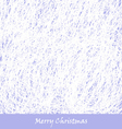 blue Christmas hand drawn background vector image