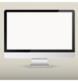 Empty computer screen vector image