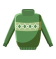 Mens sweater icon cartoon style vector image