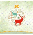 Christmas deer card EPS 8 vector image