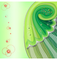 Green background with beads vector image