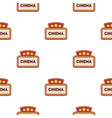 cinema signboard icon in cartoon style isolated on vector image